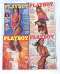Lote contendo 4 revistas Playboy, década de 80.