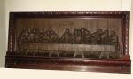 EXCEPCIONAL ESCULTURA - A ÚLTIMA  CEIA  - d'aprés LEONARDO DA VINCI - SÉCULO XIX - BRONZE - figuras em alto relevo - Medidas 70x145x10 cm