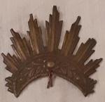 Antigo RESPLENDOR  em prata. Século XIX. Medidas