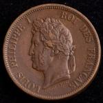 Rara Moeda Estrangeira, ILHAS MARQUISES - COLÔNIA FRANCESA, Valor 10 Centimes, Data 1843 A, Bronze, Difícil Encontrar neste Estado de Conservação, Soberba/FC.