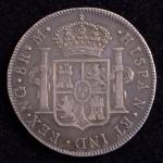 Rara Moeda Estrangeira, GUATEMALA, Valor 8 Reales, Ano 1800, Prata, Soberba.