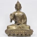DEUSA SHIVA - Escultura em bronze dourado e finamente cinzelado e esculpido. Med: 38 x 22 x 50cm