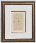 EMILIANO Di CAVALCANTI - Elisa - Desenho a nanquim assinado na área inferior, datado de 1962 e Localizado Paris. med: 13 x 20cm (Obra) e 39 x 47cm (Total)