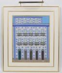 DJANIRA DA MOTA E SILVA - Fachada - Óleo sobre tela, assinado no CID datado de 1970 e medindo: 64 x 80cm (Obra) e 98 x 115cm (Total)