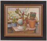 DIMITRI ISMAILOVITCH (Ucrania 1890 - Rio de Janeiro 1976) - Natureza Morta - OST Assinado no CID, datado de 1950 Carimbado no verso. Med: 60 x 48cm (Obra) e 88 x 76cm (Total)