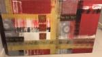 Tres módulos de quadros , artista Giuliana Favero- Medidas: 1,60x 1,0 cm ( maior)  e 60x1,0 cm
