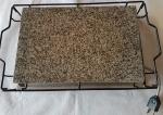 Tabua de pedra para grelhar elétrica - Medidas: 46x27x10 cm - lote não despachado pelo correio devido a pedra.