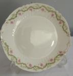 Clássico prato decorativo em porcelana francesa LIMONGE - Diâmetro:  24 cm