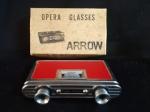Binoculo de Teatro sendo Arrow - Crystar Lens 25x , em sua caixa,