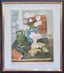 """HENRI MATISSE (1869-1954) -  """"BLUMENSTILLEBEN"""" (Floral Still Life with Three Vases) - Litogravura colorida original, assinada e datada na matriz 1933, numerada a lápis: 87/350. Tiragem única anterior a 1945. Med. 50 x 40 cm e com moldura: 59 X 45 CM. VER COTAÇÃO ------> https://www.wdartgallery.com/en/henri-matisse-original-print-lithograph-blumenstilleben-floral-still-life-with-three-vases-xml-747_828-3503.html    -------> https://www.mutualart.com/Artwork/Still-Life-with-Three-Vases/11AC074C7AE9E566    .. #matisse #originalprint #henrimatisse #auction #leilao"""