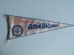 Flâmula 70º aniversário do Colégio Americano 1885 - 1955, 52m comprimento, desgaste usual e manchas, no estado.