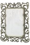 Antigo Porta Retrato, em  metal prateado, para fotos 10 X 18,  ricamente cinzelado e fenestrado, com rocailles e florais. Dimensões: 22 cm X 18 cm (Alt./Larg.). xx