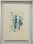 PORTINARI, Cavalheiros - silk screen - 50x35 cm