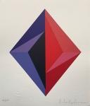 PAULA KADUNC, Geométrico - serigrafia 84/100 - 35x30 cm - acid
