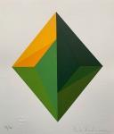 PAULA KADUNC, Geométrico - serigrafia 93/100 - 35x30 cm - acid