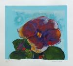 ALDEMIR MARTINS, Flor - serigrafia 72/100 - 50x55 cm - Editada pelo Instituto