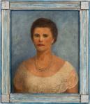 TARSILA, Retrato de Glette de Alcantara - óleo sobre tela - 64,5x54,5 cm - acie 1960