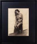 COGNAT, Nu - desenho a carvão - 63x48 cm
