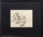 COGNAT, Figuras - desenho a carvão - 49x64 cm