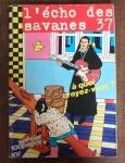 Revista de Coleção L'écho des savanes 37 -  Edição do 4.º trimestre de 1977.