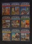 Coleção de Enciclopédia Estudantil completa com 9 volumes.