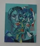 Henri Carrières - Figuras - Acrílico sobre tela - Medidas da tela: 60x50 - Sem Moldura - BIOGRAFIA DO ARTISTA: CARRIÈRES, HENRI 1947, VALENÇE, FRANÇA. TRANSFERIU RESIDÊNCIA PARA O BRASIL,FIXANDO-SE NO RIO DE JANEIRO,ONDE COMEÇOU A PINTAR EM 1996. REALIZOU INDIVIDUAL NA GALERIA DE ARTE DA CHURRASCARIA TIJUCANA, EM 1969. PRINCIPAIS COLETIVAS: 1967 - II EXPOSIÇÃO GERAL DE BELAS ARTES DA UNIVERSIDADE FEDERAL DO RIO DE JANEIRO (RJ); 1968 I SALÃO BATISTA DA COSTA, MEDALHA DE BRONZE, RIO DE JANEIRO (RJ) E SALÃO NACIONAL DE BELAS ARTES, MENÇÃO HONROSA EM PINTURA, RIO DE JANEIRO (RJ