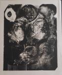 Ramirez Amaya - Pajaro cuatro + cinco - litografia Raro, só foram emitida 30 litografia sendo essa de numero 19 (19/30) - 70 x 56 cm - 1975 - sem moldura