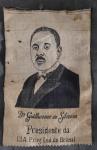 COLECIONISMO - Debuxo (foto em tecido) Dr. Guilherme da Silveira medindo 28,5cm x 18,5cm - Circa 1970