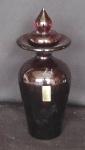 CRISTAL CADORO - Espetacular recipiente de cristal com ínfimo bicado na tampa. Alt.21cm