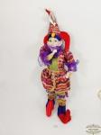 Grande Alerquim Pierrot Musical com roupa com Lantejoulas. Medida: 61 cm