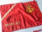 MILITARIA - Rara bandeira de tropa dos Comandos Anfíbios da Marinha do Brasil. Medindo 47 x 32 cm, dupla face, é um dos símbolos da mais preparada tropa de combate do país.