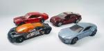 Hot Wheels -  4 Colecionáveis carrinhos - Sendo: Aston Martn One 77 - 71 Maverick G Rabber - 09 Cadillac Cts V - Ford GT 90 - Metal e plástico rígido. Conforme fotos.