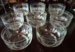 SAINT LOUIS  - França - SEC  XX: Oito lavandas em cristal frances , lavradas   com gregas e plantas estilizadas em fina ornamentação Medidas  diâmetro 13 cm e altura 8 cm. RARIDADE !!!
