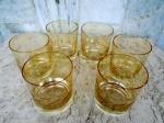 Cristal HERING : Conjunto de seis copos para whisky em fino cristal da década de 70 com lapidação de ramos de flores. Altura 9 e diâmetro 8 cm.