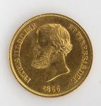 MOEDA IMPERIO BRASILEIRO DE 1866 EM OURO. PESO 8.9 GRAMAS