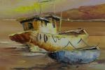 CARVALHO DE CASTRO, óleo sobre tela, representando marinha, medindo 30 x 20 cm. Sem moldura.