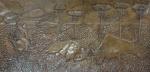 AM071, SEM ASSINATURA, placa de cobre, representando figuras, medindo 116 x 56 cm. Sem moldura.