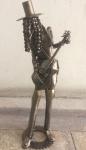 AM096, CARLOS SANTER, escultura em metal patinado,