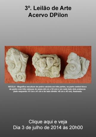 3º. Leilão de Arte - Acervo Dpilon - 3/07/2014