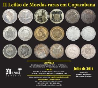 LEILÃO DE MOEDAS E COLECIONISMO