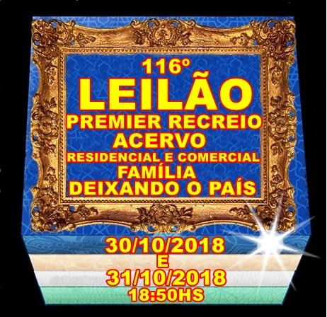 116º LEILÃO PREMIER RECREIO- ACERVO RESIDENCIAL E COMERCIAL DE FAMÍLIA DEIXANDO O PAÍS.