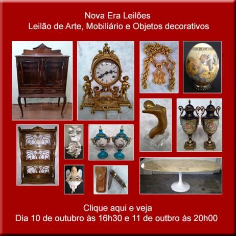 LEILÃO DE ARTE, MOBILIÁRIO E OBJETOS DECORATIVOS - 10 e 11/10/2018