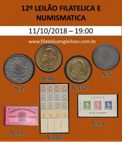 12º Leilão de Filatelia e Numismática Filatélica MG Leilões