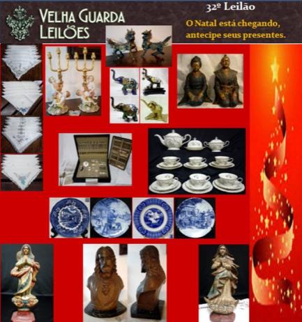 32º LEILÃO VELHA GUARDA LEILÕES - Arte, Antiguidades, Decorações e Colecionismo