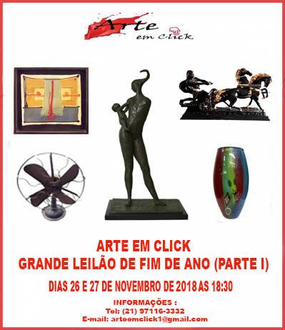 ARTE EM CLICK GRANDE LEILÃO DE FIM DE ANO (PARTE I)