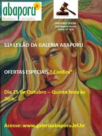 51º Leilão da Abaporu Brazilians Art Gallery