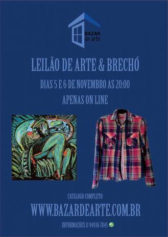 LEILÃO DE ARTE & BRECHÓ