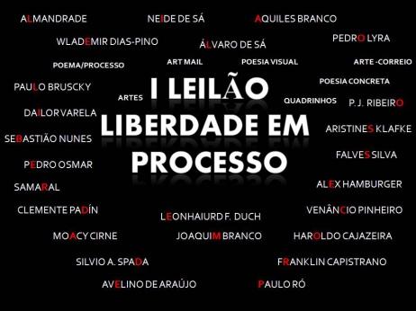 1º LEILÃO LIBERDADE EM PROCESSO - POEMA/ PROCESSO - ARTE POSTAL - PERIÓDICOS - ARTE & OUTROS
