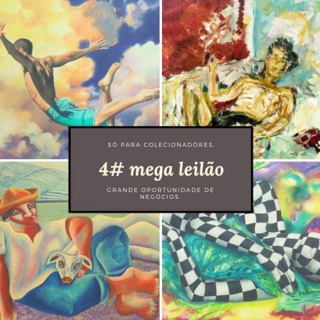 4# MEGA LEILÃO. ARTISTAS EXCLUSIVOS. STREET ART E CONTEMPORÂNEO.