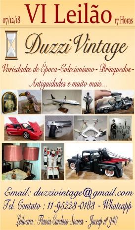 VI Leilão DuzziVintage -Variedades de Época-Colecionismo-Brinquedos-Antigos-